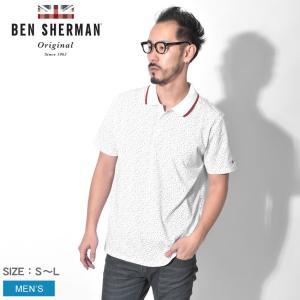 【メール便可】ポロシャツ メンズ 半袖 BEN SHERMAN ベンシャーマン カンバセイショナルプリント BC19S54463 イギリス|z-craft