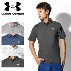 アンダーアーマー UNDER ARMOUR チャージド コットン スクランブル ロゴ ポロシャツ メンズ 海外モデル|z-craft
