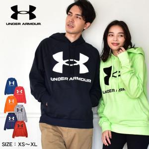 アンダーアーマー パーカー メンズ UA ライバル フリース ビッグ ロゴ UNDERARMOUR ...