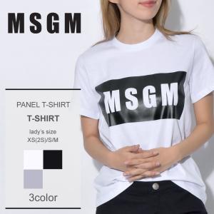【メール便可】MSGM エムエスジーエム Tシャツ レディース パネルTシャツ PANEL TーSH...