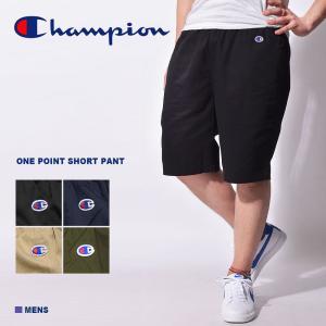 【メール便可】 チャンピオン ショートパンツ メンズ ワンポイント ショートパンツ CHAMPION C3-H518 ブラック 黒 パンツ 半ズボン ボトムス z-craft