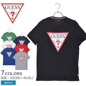(24時間限定) (ゆうパケット可) ゲス 半袖Tシャツ メンズ オリジナル トライアングル ロゴ ...