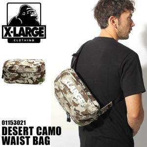 X-LARGE エクストララージ DESERT CAMO WAIST BAG  ウエストバッグ メンズ  レディース