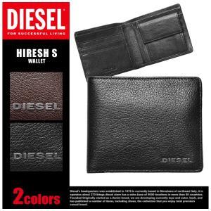 DIESELより「HIRESH S」です。山羊革を使用した本格的な長財布。内側にツートンカラーをあし...