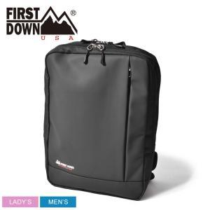 FIRST DOWN ファーストダウン バックパック スムース合皮スクエアリュック 33004 鞄 かばん アウトドア 通勤 通学|z-craft