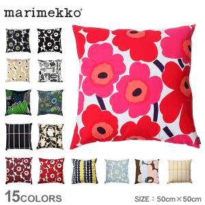 【メール便可】 マリメッコ クッションカバー クッションカバー 50×50cm MARIMEKKO ブラック 黒 レッド 赤 ベージュ 雑貨 可愛い ブランド 花柄