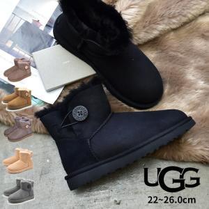 UGG アグ ムートンブーツ レディース ミニベイリーボタン II 1016422 ブランド 靴|z-mall