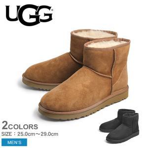 アグ UGG ムートンブーツ メンズ アグブーツ クラシック ミニ 本革 シューズ 靴 冬 防寒 ブランド 誕生日 プレゼント ギフト|z-mall