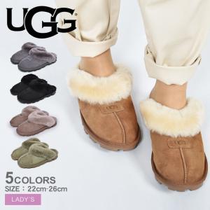 UGG アグ スリッパ コケット COQUETTE 5125 レディース ファー 羊毛 つっかけ 靴 もこもこ シープスキン ブランド|z-mall
