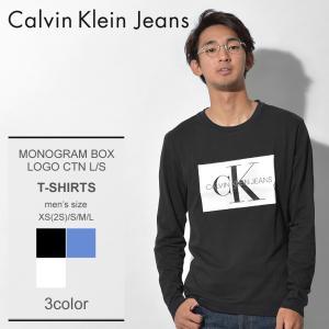 カルバンクラインジーンズより「モノグラム ボックスロゴ ロングスリーブ Tシャツ」です。 フロントに...