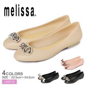 (セール) メリッサ パンプス レディース ドール VII AD MELISSA 33265 ブラック 黒 ピンク ベージュ ぺたんこ フラット パンプス 靴 飾り|Z-SPORTS PayPayモール店