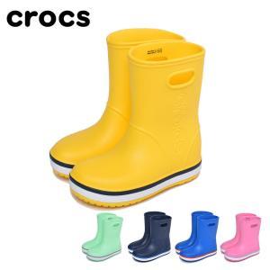 クロックス レインシューズ キッズ ジュニア クロックバンド 205827 CROCS 子供 長靴 ...