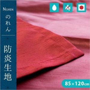 のれん 防炎 日本製 洗える暖簾 無地 85×120cm メール便送料無料|zabu