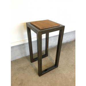 アイアン家具 ヴィンテージ仕上げ サイドテーブル 古材|zacc