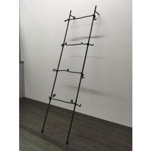 アイアン ラダーラック シェルフ 立てかけ はしご型ハンガー|zacc