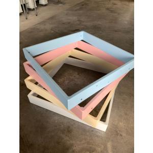 テーブル脚 アイアン パーツ DIY用 シンプルデザイン パステルカラー(焼付塗装) オーダーサイズ|zacc