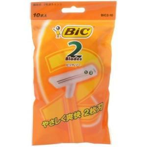 BIC ビックツー 10本入 使い捨てカミソリ|zaccaya