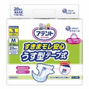 大王製紙  アテント すきまモレ安心うす型テープ式 M20枚 zaccaya