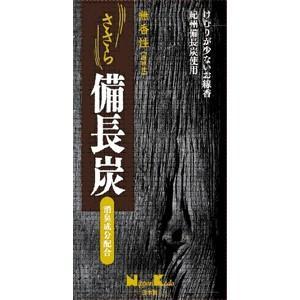 日本香堂 ささら 備長炭 無香性 バラ詰 100g