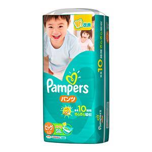 【在庫処分】P&G パンパース フィットパンツ スーパージャンボ ビッグ38枚|zaccaya