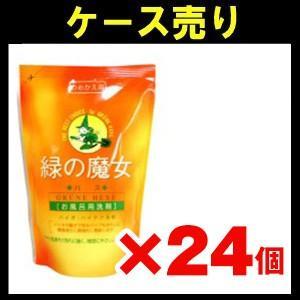 【ケース売り】緑の魔女 お風呂洗剤詰替 360ml×24個入り zaccaya