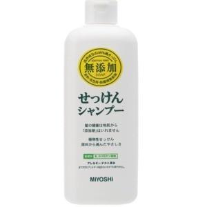 ミヨシ石鹸 無添加 石鹸シャンプー本体350ML|zaccaya