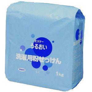 エスケー石鹸 うるおい 洗濯用粉せっけん 詰替用 1kg|zaccaya