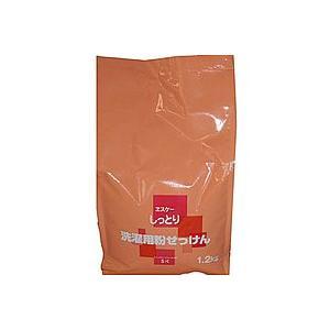 エスケー石鹸 しっとり洗濯用粉せっけん詰替1.2KG|zaccaya