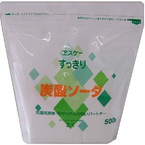 エスケー石鹸 すっきり炭酸ソーダ 500G|zaccaya