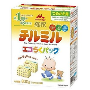[森永乳業]チルミル エコらくパック 詰替用 400g×2個/フォローアップミルク/離乳食/1歳から