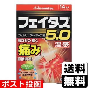 ■DM便■【第2類医薬品】【セ税】フェイタス5.0温感 14枚ポスト投函 [送料無料]/関節痛/筋肉痛/腰痛