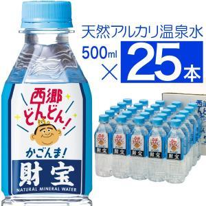 温泉水 財宝 500ml×25本 西郷どん 特別仕様ボトル ...