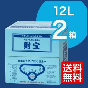 温泉水 財宝 24L (12L×2箱) バッグインボックス ...