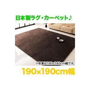 日本製!床暖ホットカーペット対応ラグ190×190cm幅/全4色,フェイクファーカーペット,防ダニ,抗菌 zak-kagu
