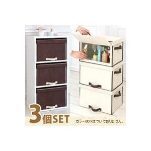 扉付 整理箱 3個セット カラーボックス用 収納BOX おもちゃ箱 蓋付 収納グッズ|zak-kagu