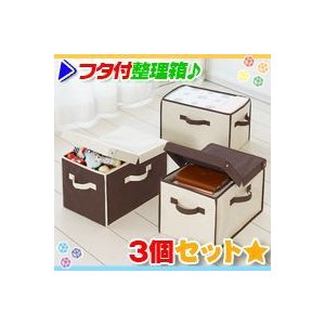カラーボックス整理箱 フタ付 3個セット 収納ボックス おもちゃ箱 収納箱 整理整頓 zak-kagu