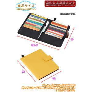 カードケース 24枚収納 インナーケース カード 整理 キャッシュカード クレジットカード ポイントカード ループ付|zak-kagu|04