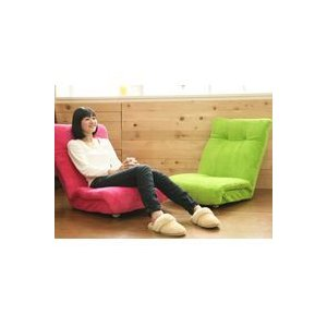 フロアソファ 一人掛け マイクロファー 座椅子 14段階リクライニングソファ1人用 ロータイプ|zak-kagu
