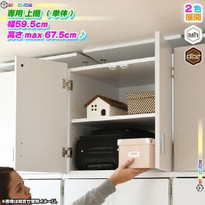 上棚 幅59.5cm 専用棚 上置き棚 上棚 クローゼット用 壁面収納 衣類収納 帽子 鞄 収納 棚 可動棚付 zak-kagu