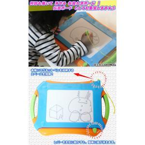 お絵かきボード マグネットペン付属 磁気ボード 子供 おえかき らくがき 子ども 伝言ボード お画描き 持ち手付|zak-kagu|02