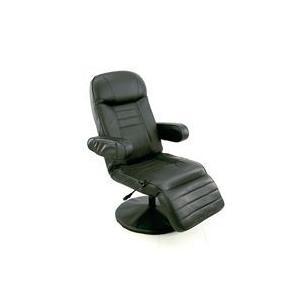 11段階 リクライニングチェア 油圧 昇降式 リビングチェア TVチェア フットレスト 4段階可動 椅子 休憩チェア 合皮|zak-kagu