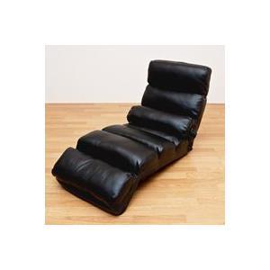 14段階リクライニング座椅子 一人用 リクライニングチェア 合皮レザー仕様|zak-kagu