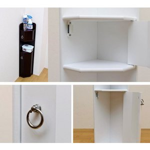 トイレコーナーラック トイレラック トイレ収納ラック お手洗いラック 掃除用具入れ|zak-kagu|03