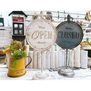 オープン クローズ マガザン スタンディングサイン OPEN CLOSED / ガーデン ガーデニング 雑貨 ナチュラル インテリア おしゃれ かわいい ショップ 店 看板|zakka-candy