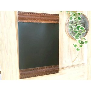 サビサビ デブリ アイアン ブラックボード 壁掛け 黒板 / インテリア ジャンク ガーデン 雑貨 おしゃれ カフェ雑貨|zakka-candy