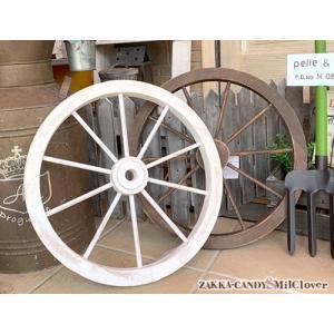木製車輪 ウッド ホイール ガーデンウィール / アンティーク調 ナチュラル ジャンクガーデン JU...