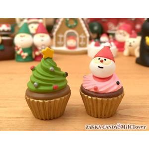 DECOLE デコレ クリスマス雑貨 かわいい雑貨 サンタ 小人 クリスマスマスコット ディスプレイ /  concombre クリスマスミニケーキ(2個セット)|zakka-candy