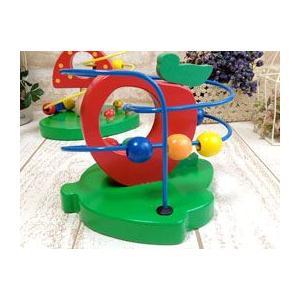 ウッデントイ ビーズコースター りんご / 木のおもちゃ 知育玩具 木製 かわいい プレゼント お誕生祝い 可愛い zakka-candy