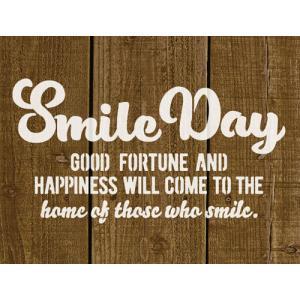 オリジナルステンシルシート Smile Day / メール便OK DIY リメカン ハンドメイド おしゃれ かっこいい|zakka-candy