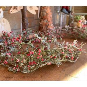 クリスマス ディスプレイ フェイクグリーン 壁掛け おしゃれ カフェ雑貨 / ミニホーリー ガーランド 6本 1束|zakka-candy